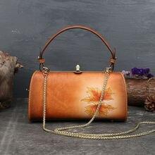 Aeclvr Женская винтажная сумка из натуральной кожи 2020 новая