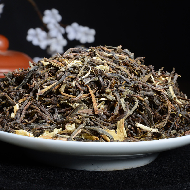 China Yunnan Raw Pu'er Pu'er Tea Jasmine Tea Tea Premium Cooked Tea Cake Lost Weight Green Food 1