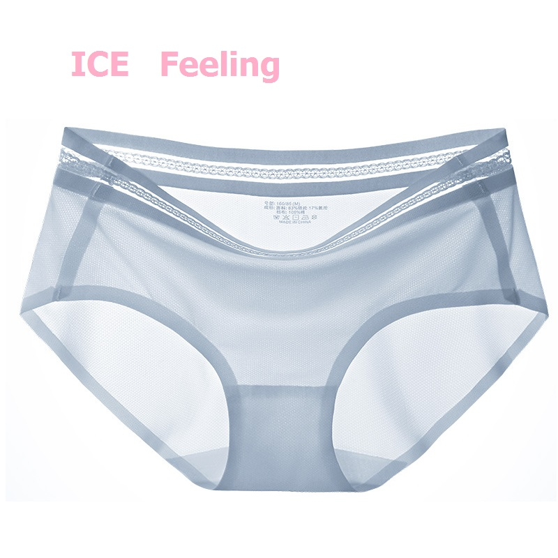 2021 Women Lace ice panties Summer cool breathable Intimate underwear schoolgirl girl ultra-thin fast dry briefs girls
