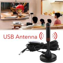 HD Digital DTV Indoor TV Antenna Fox DVB-T CMMB DTMB DVB-T2 Digital VHF UHF ISDB ATSC Signal Receiver With USB TV Tuner(China)
