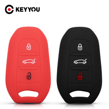 KEYYOU 3 Buttons For Peugeot C6 508 C5 C3 508 2008 3008 C4 Aircross Picasso Grand Car Key Silicone Skin Case Cover Protector