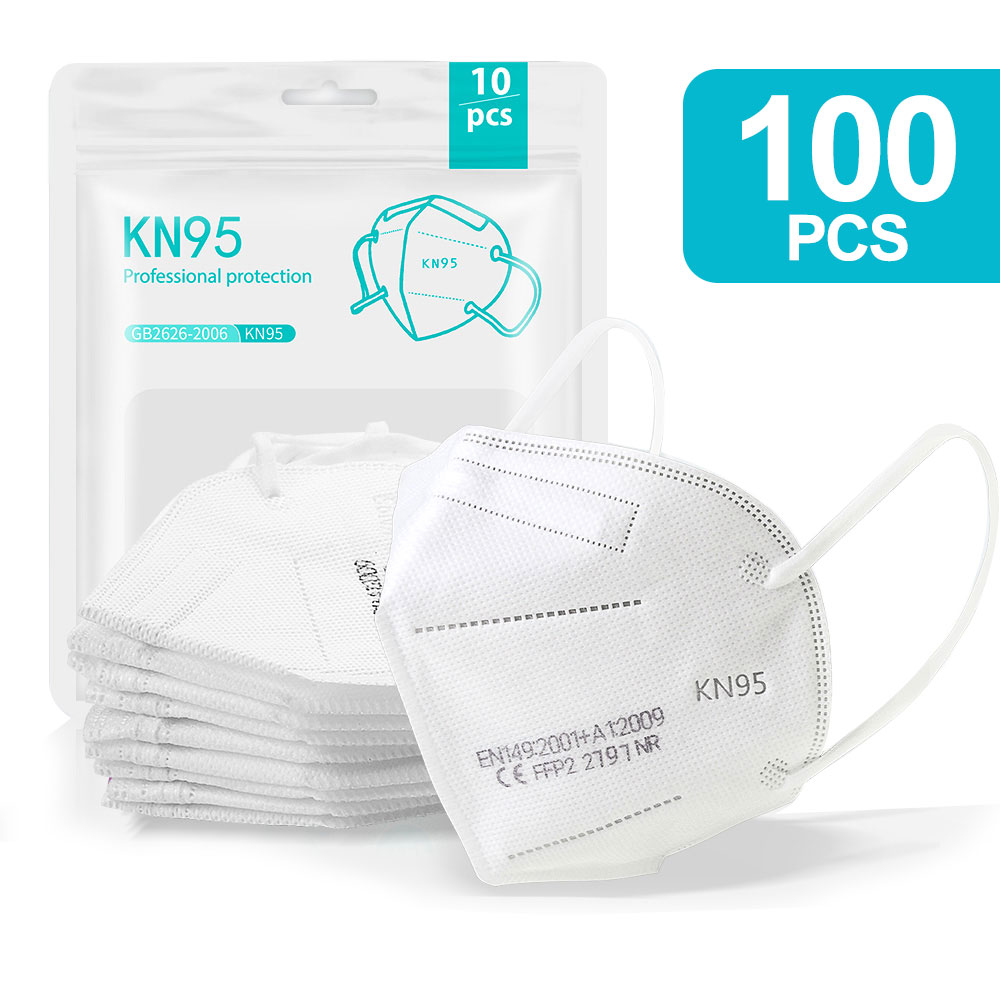 100PCS White-KN95