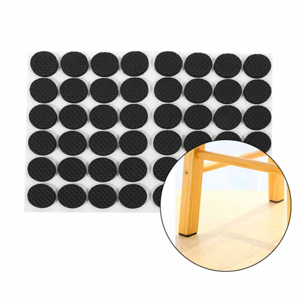 48Pcs Non-slip Self Adhesive Furniture Rubber Feet Pads Table Chair Floor Protectors Mat Round Sticky Pad For Sofa Chair Leg