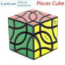 4 угольный Магический кубик LanLan для рыб, профессиональный нео скоростной пазл антистресс, обучающие игрушки для детей
