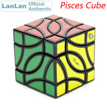 LanLan Pisces 4 Corner Magic Cube Two Fish Professional Neo Speed Puzzle Antistress Educational Toys For Children