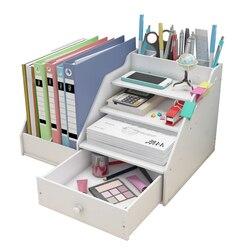 Настольный органайзер для журналов, держатель для книг, Канцелярский органайзер для хранения, многофункциональная коробка для хранения, оф...