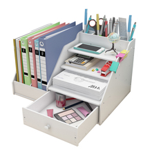 цена на Desk Magazine Organizer Book Magazine Holder Stationery Storage Organizer Multifunctional DIY Storage Box Office School Supplies