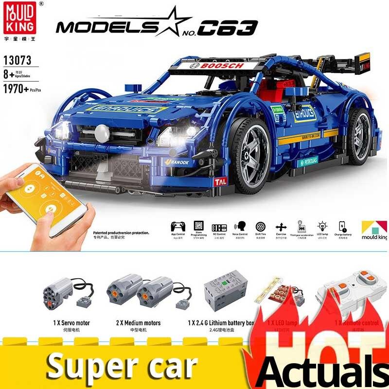 Technic 13073 Compatibel Met gaan MOC AMG Racing Auto Bouwstenen Bricks App Controle RC Auto Speelgoed voor kinderen verjaardag-in Blokken van Speelgoed & Hobbies op  Groep 1