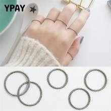 Женское кольцо на палец ypay Колечки из 100% натурального серебра
