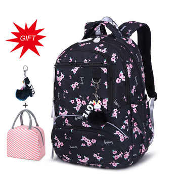 Large Capacity Schoolbag Student School Backpack Floral Printed Primary School Bags Bookbags for Teenage Girls Kds Backpack