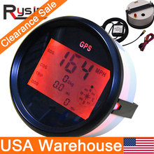 Sensor Boat Odometer Knots Motorcycle Km/H Mph Digital Backlight 85mm Car with Yacht