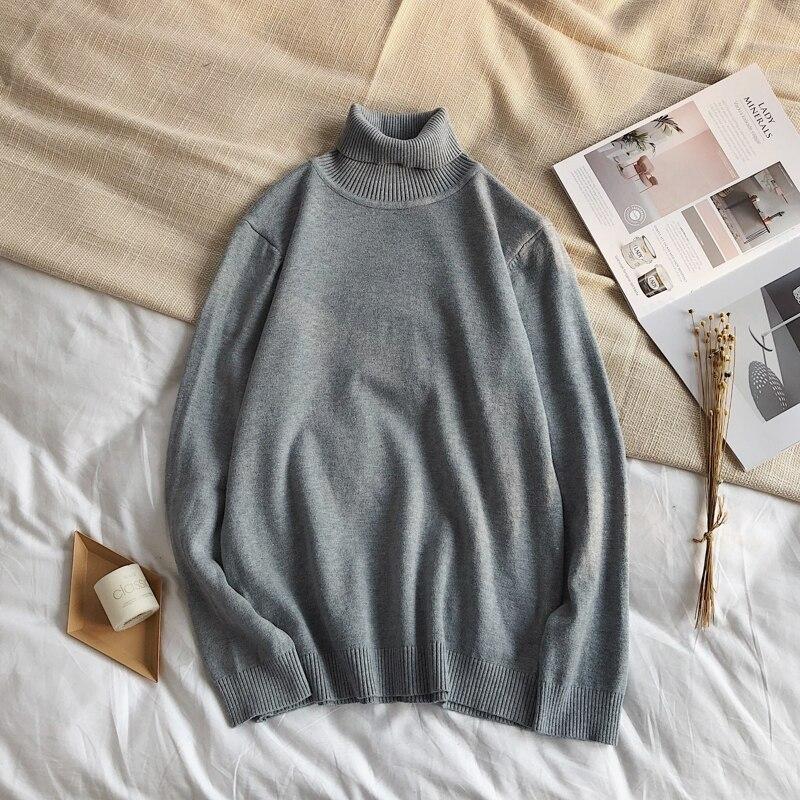 블랙/레드 터틀넥 스웨터 남성 슬림 니트 터틀넥 남성 풀오버 코튼 솔리드 겨울 터틀넥 스웨터 남성 따뜻한 두꺼운
