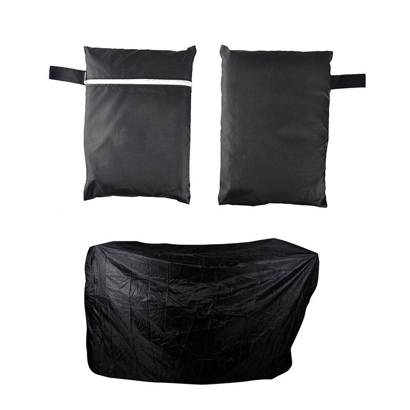 Открытый Кемпинг черный водонепроницаемый барбекю крышка Открытый дождь барбекю Гриль протектор для газового угля электрический барбекю гриль