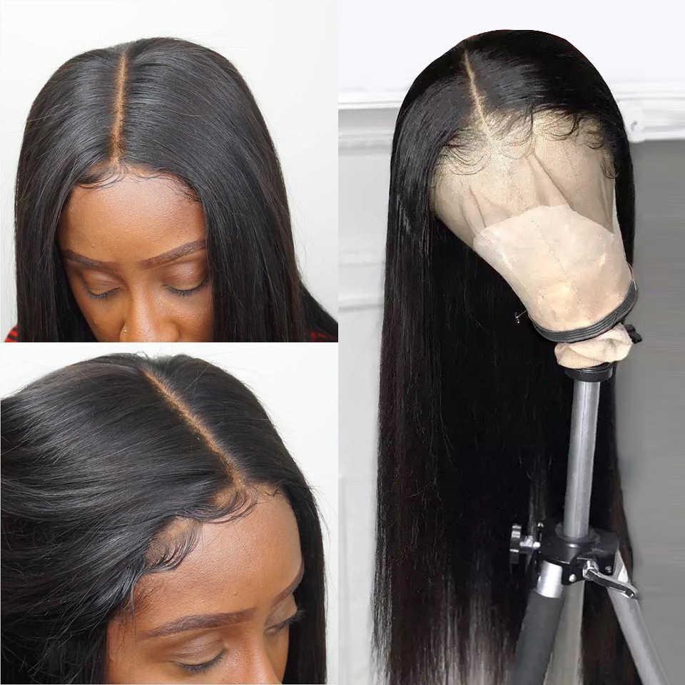 ลูกไม้ด้านหน้ามนุษย์ Wigs ตรง Pre Plucked Hairline 8-30 นิ้ว 13X6 บราซิลผมยาว 360 วิกผมลูกไม้ด้านหน้าด้านหน้า