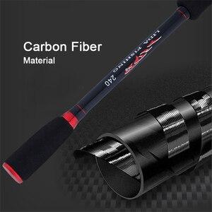 Image 2 - Caña de pescar de fibra de carbono caña de lanzamiento giratoria M caña de pescar de potencia 1,8 2,7 M caña de pescar aparejos para la piscina del río lago G7