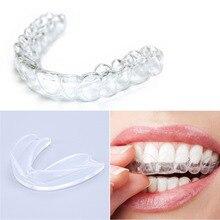 Protector bucal transparente, protector bucal de goma para Blanqueamiento Dental bruxismo, protección dental para boxeo