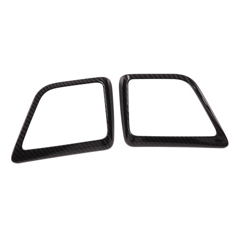 for 2015-2018 Toyota Alfa Alpha-ABS Black Carbon Fiber Rear Tweeter Speaker Frame
