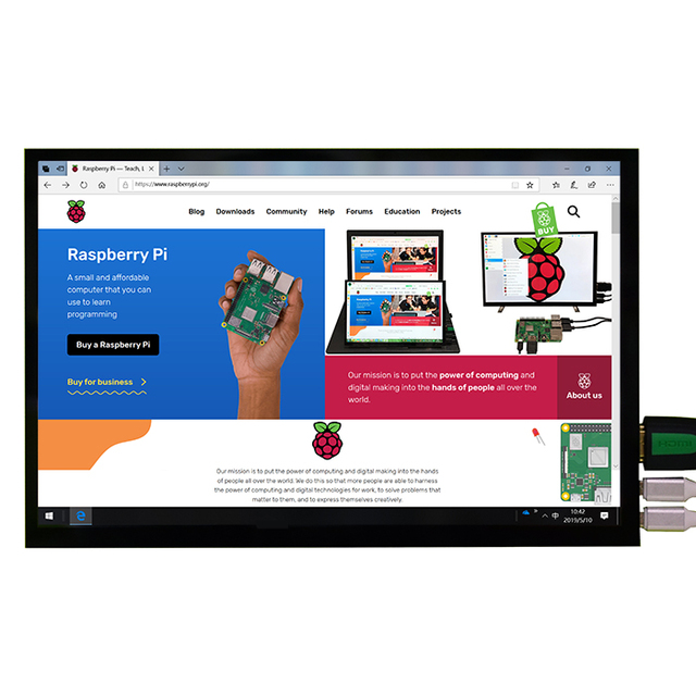 New 10.1 inch 1280x800 IPS HDMI LCD Display Monitor with Capacitive Touch Screen for Raspberry Pi 4B 3B+  Windows Android