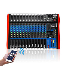 6/8/12 смешивание каналов консольный микшер аудио интерфейс миксер Цифровой bluetooth USB зарядки аудио миксер DJ HD плеер независимых
