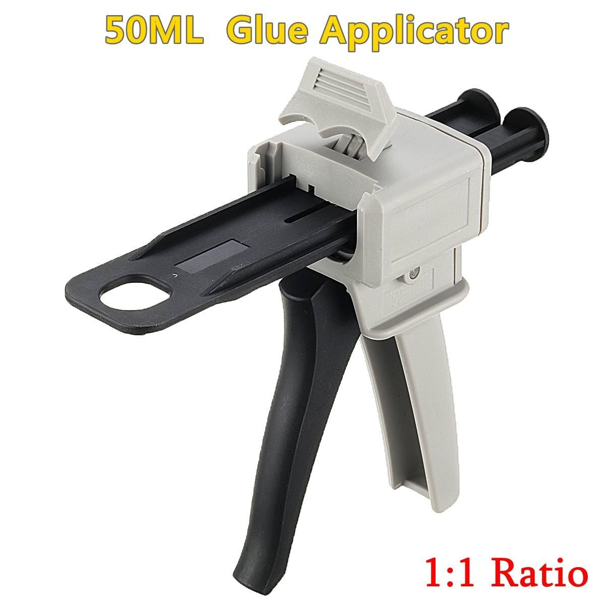 Glue Guns 50ml Two Component AB Epoxy Sealant Glue Applicator Glue Adhensive Squeeze Mixed 1:1 Manual Guns Dispenser
