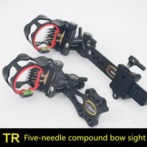tr fine tuning cinco agulha avistamento composto arco de ajuste rapido vista de curto barra
