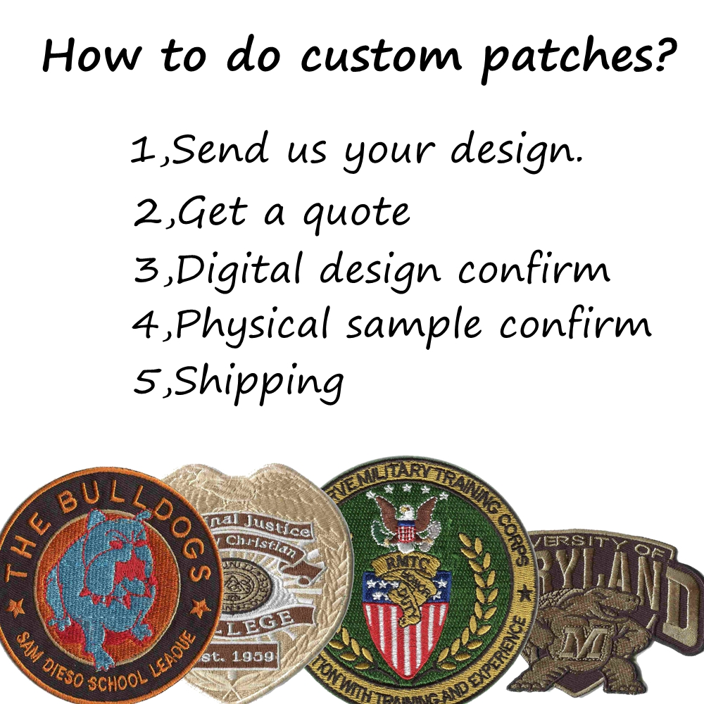 Creat Custom College Patches Embroidery Patches For Clothing Iron On Backing