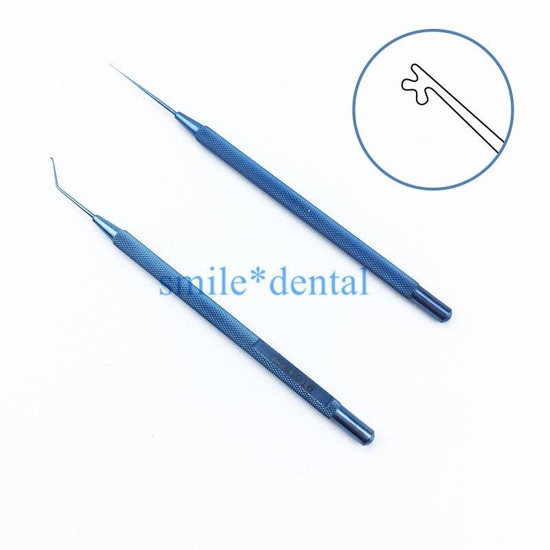 Surgical Ophthalmic Instruments Titanium Kuglen Iris Hook And Lens Manipulator Ophthalmic Instruments Hooks