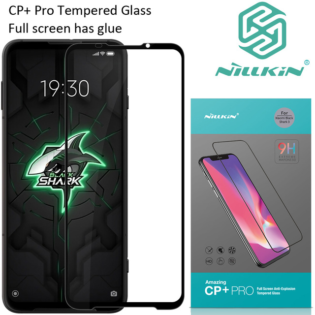Nillkin CP + برو الزجاج المقسى ل شاومي BlackShark 3 الأسود القرش 3S واقية oleophobic كامل الشاشة الغراء