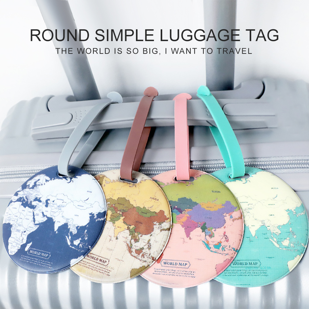 Fashion Map Luggage Tag Women Travel Accessories Silica Gel Suitcase ID Address Holder Boarding Tag Travel Accessories Bag