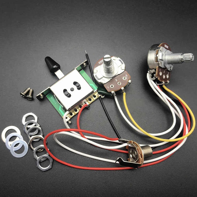 electric guitar wiring harness prewired kit a500k b500k 18mm shaft big pots  3 way switch 1 volume 1 tone control wiring harness| | - aliexpress  aliexpress