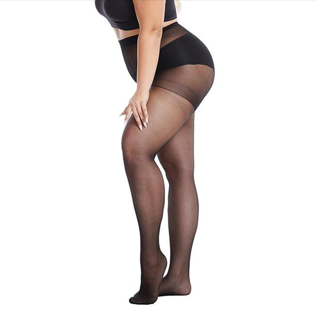40 D Plus Size Women Sexy Pantyhose Elasticity Spandex Resistant Women's Stockings Collant Femme black tights Sexy Control Pants 1