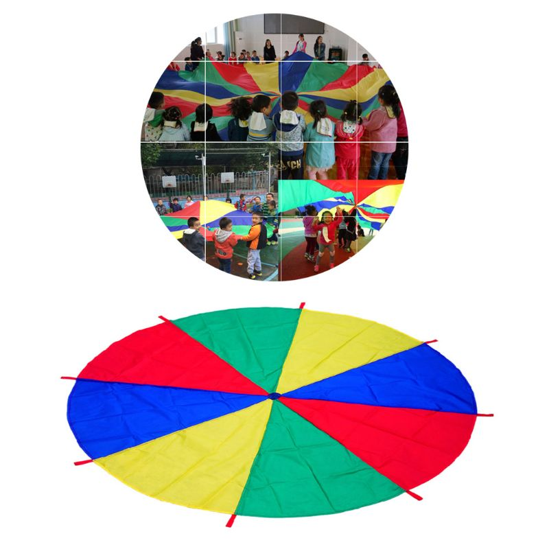 2M Kids Play Colorful Parachute Outdoor Game Exercise Sport Group Activities Toy E65D
