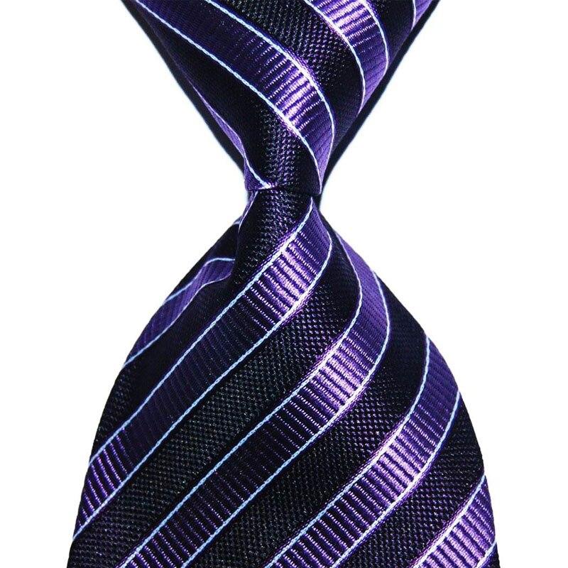 Striped Suit Tie For Men Silk Necktie 10cm Wide Male Fashion Jacquard Woven Formal Wear Business Suits Wedding Party Classic