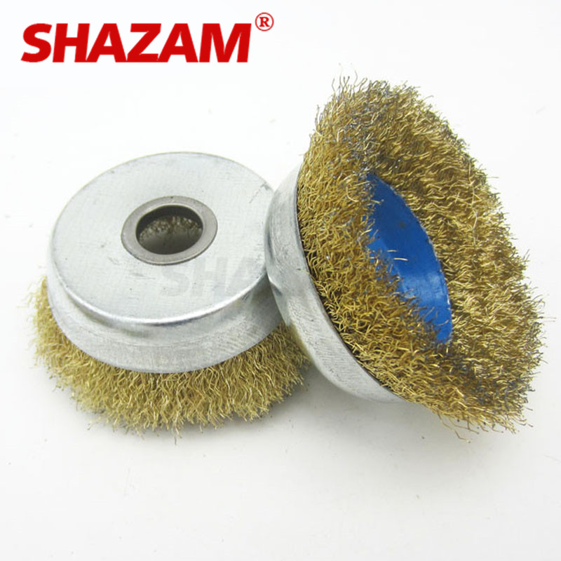 Grinding Wire Wheel Brush Rust Removal Steel Wire Wheel Brush Shazam Metal Polishing Copper Wire Wheels Rims For Angle Grinders