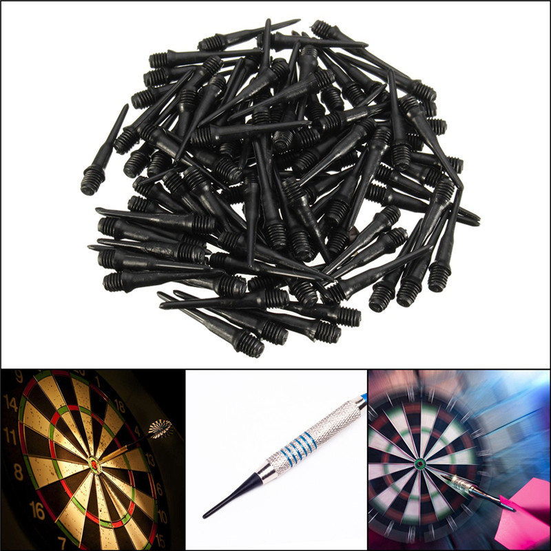 100 PCS 27mm Darts Shafts Soft Tips Pipe Professional Plastic Thread Replacement Accessories Gadgets For Darts Gaming Black