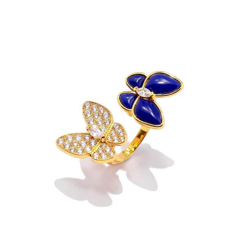 Bague femme chaude bijoux belle papillon mode personnalité visage lisse pour envoyer des cadeaux pour les amoureux 2019 nouveau