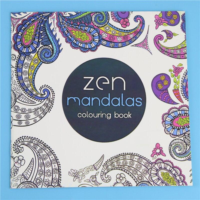 Coloring Mandalas Book Books For 24Pages *18.5cm Drawing Quiet 18.5 Antistress Adults Garden Color Kids Books Antistress Secret
