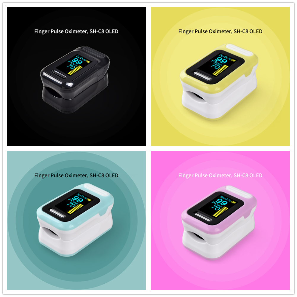 ELERA Finger Pulse Oximeter with OLED Display to calculate Blood Oxygen Saturation 2
