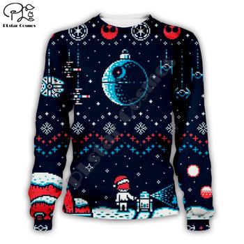 Plstar cosmos gwiezdne wojny świąteczna przestrzeń brzydka bluza 3d print bluzy z okrągłym wycięciem pod szyją casual z długim rękawem odzież wierzchnia tanie i dobre opinie Poliester spandex Swetry 0 4kg Drukuj Na co dzień O-neck REGULAR Suknem Pełna Sweater WOMEN Autumn and winter Polyester Spandex