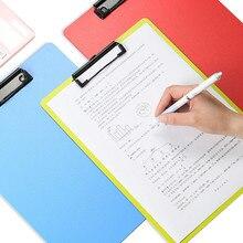 Folders Clip-Board File Office-Stationery Hard-Plastic Metal School Writing with Hook