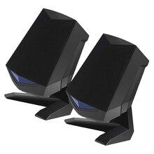 2pcs For Desktop Audio Speaker Intelligent Noise Reducing Portable USB Laptop Stereo Speaker  Audio Speakers Gaming Bass Speaker