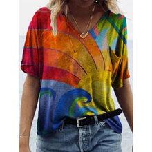 Femmes d'été Décontracté Hauts 2021 Printemps Femme T-Shirts Nouvelle Mode Grande Taille Femmes Vêtements Vintage Haute Rue Imprimé Dame Top