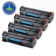 цена на 4PK CE285A 85A Compatible Toner Cartridge For HP LaserJet P1102 P1102w P1109W MFP M1130 M1132 M1212nf m1217nfw