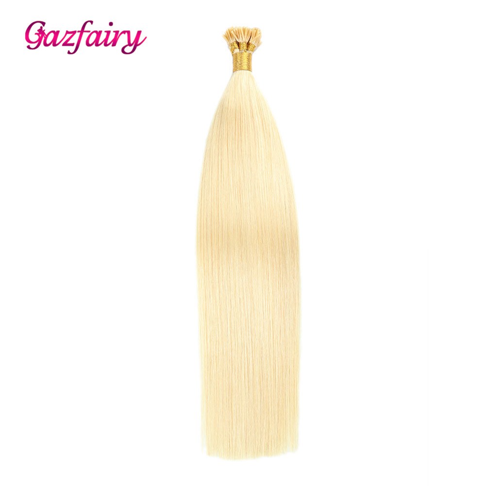 Gazfairy I Tip Human Hair Extensions 1g/s Remy Pre Bonded 16