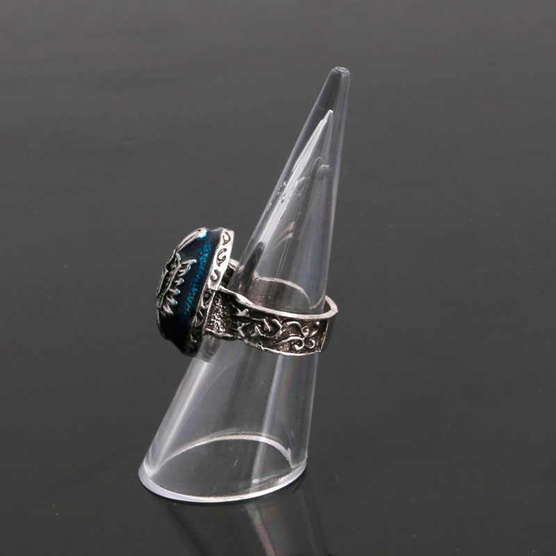 1Pc Plástico Dedo Cone Anel de Dedo Display Stand Showcase Titular De Armazenamento