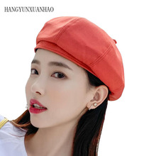 2019 Summer Street Straw Hats Woman French Artist Berets Female Solid Hat Ladies Casual Spring Holiday Caps Dropshipping