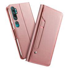 Xiaomiマイル 10 mi 10 プロケース革フリップスタンド財布カバーのためのカードスロットとミラーxiaomi mi CC9 プロケースアーマー