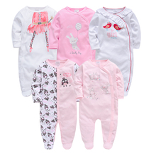 Kavkas, Mono para niña con manga completa, Otoño Invierno, 3m, 6m, 9m, 12m, monos para bebé recién nacido, ropa para bebés
