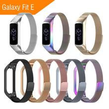 лучшая цена 2019 Metal Strap for Samsung Galaxy Fit E Band Smart Watch Galaxy SM-R375 Stainless Steel Bracelet for Galaxy Fit E Replacement
