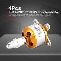 A2212 15T 930KV/1400KV 2 3S Brushless Outrunner Motor RC Airplane Fixed wing Helicopter Multicopter Drone F450 S500